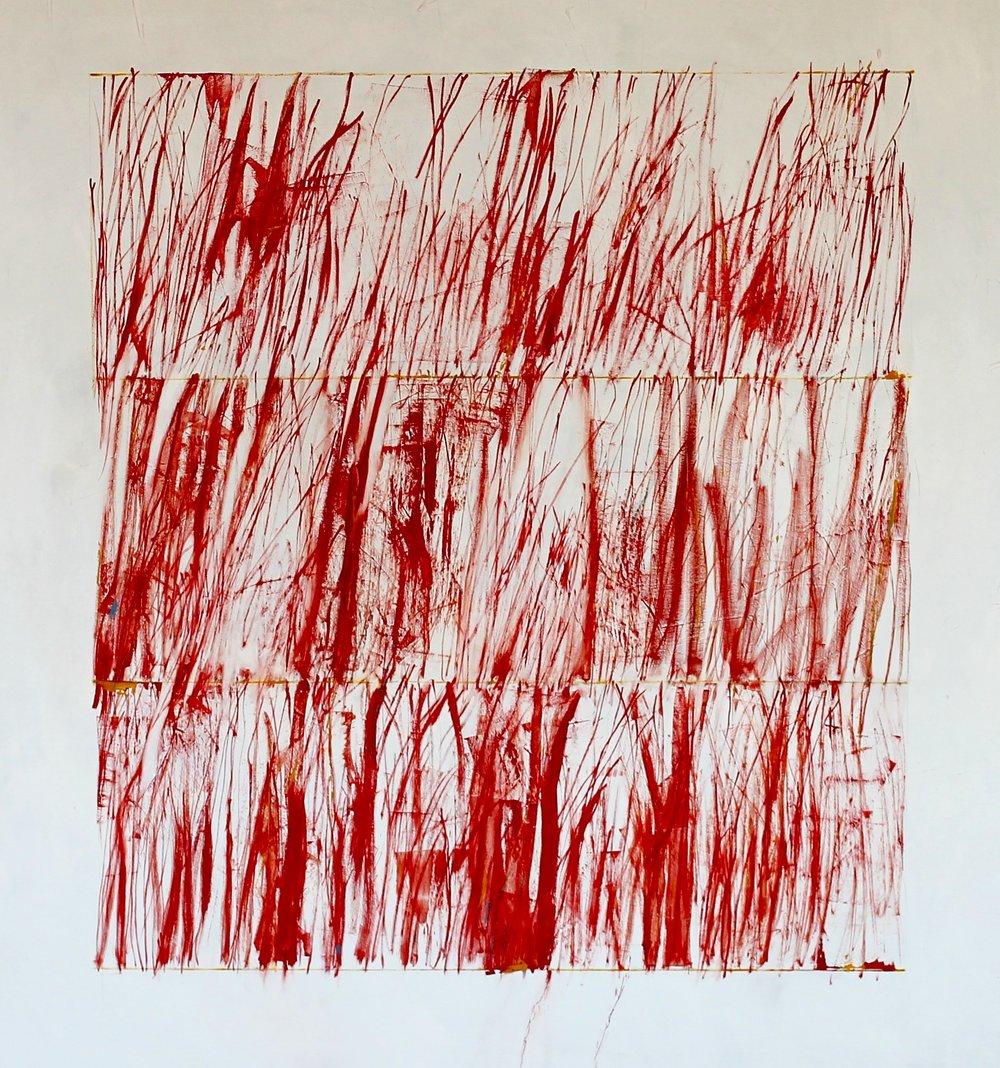 "Primary Waltz (Oil. 48""x50"")"