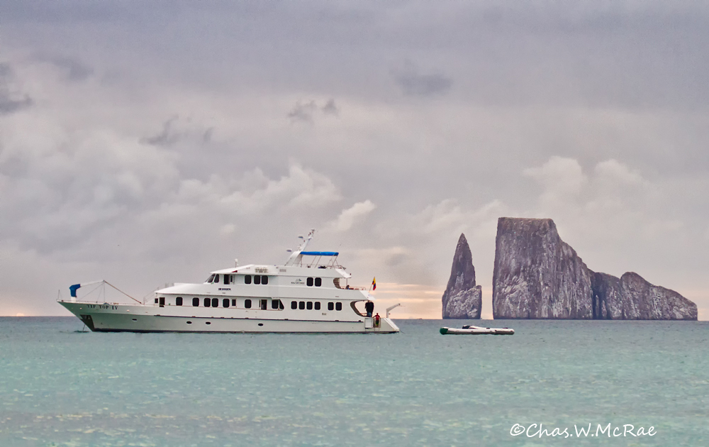 Kicker Rock off San Cristobal Island with Tip Top IV yacht