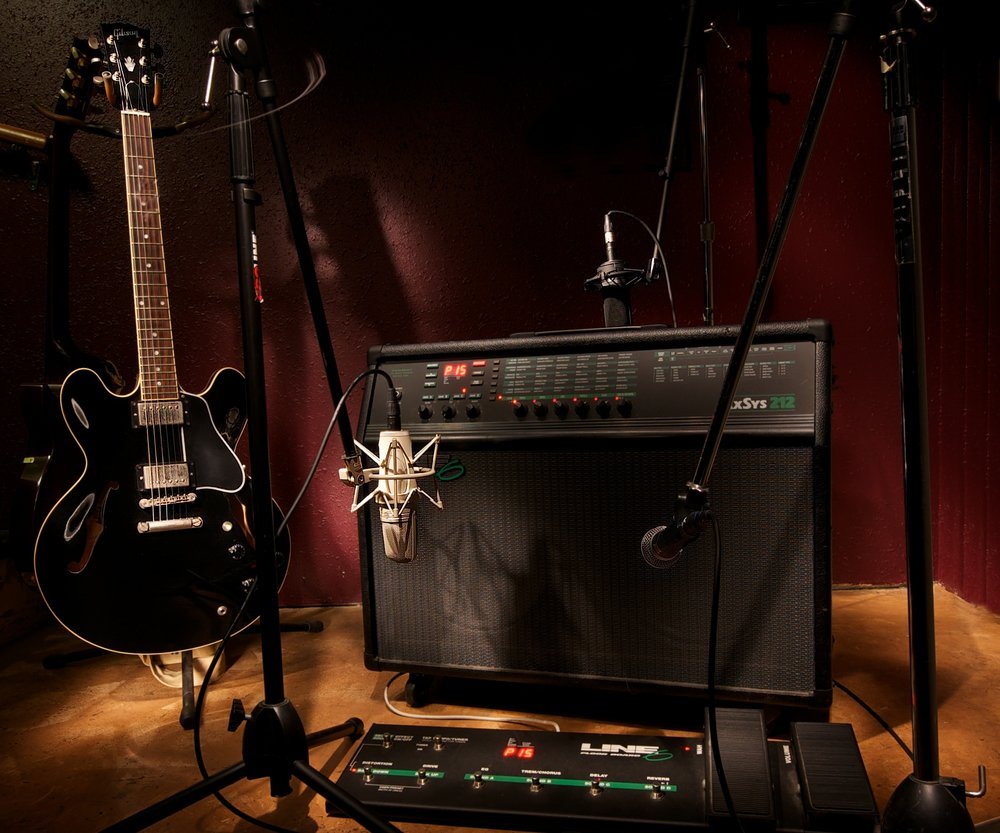 Our live room may be small, but we get some amazing guitar tones!