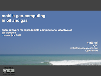 Mobile geo-computing presentation