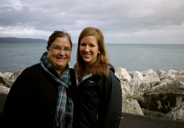 My mother, Joan, and I in Ireland on retreat
