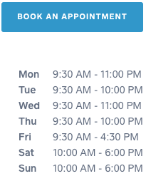 Any requests for booking outside the above business hours can be made via email inquiry.