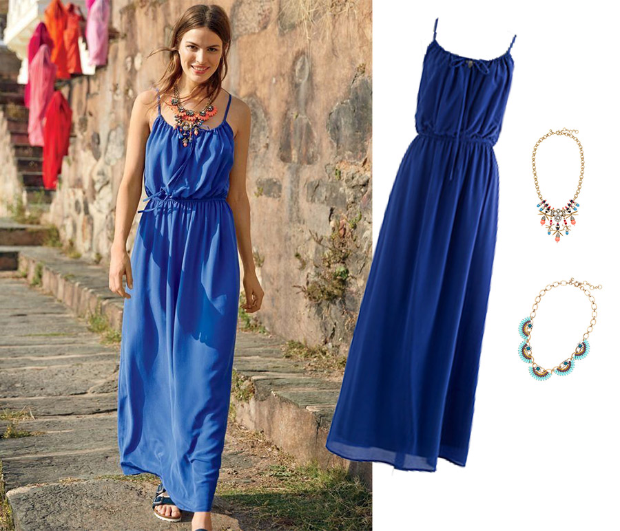 Jcrew passage to inda, jcrew style guide, june, jcrew silk maxidress, jcrew necklaces