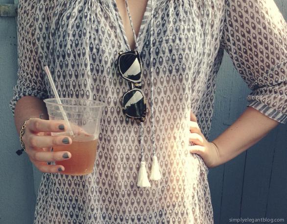 roberta roller rabbit, warby parker sunglasses, beach coverup, beach dress, maine, blogger at beach