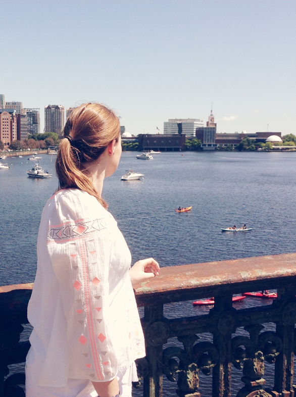 Boston Charles River, Summer in Boston, wearing madeweell, weekend fashion