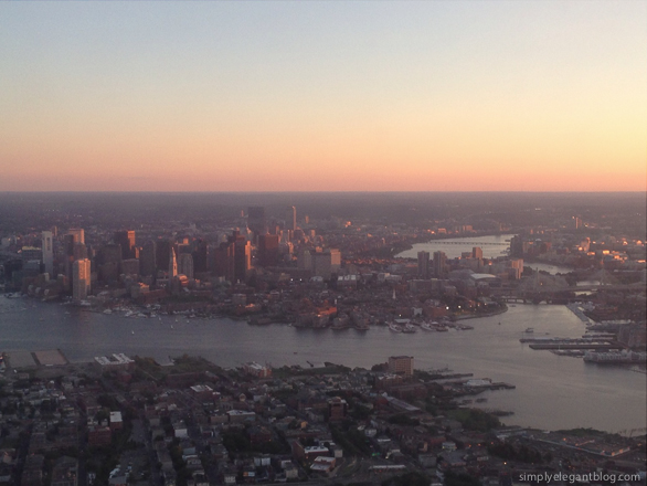 boston skyline, boston at sunset, boston from the sky, boston blogger