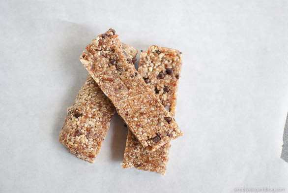 Homemade Chocolate Chip Larabar, Recipe on Simply Elegant Blog