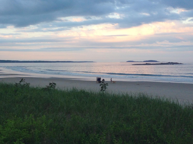 Maine weekend, maine beach and ocean, sunset over ocean, summer