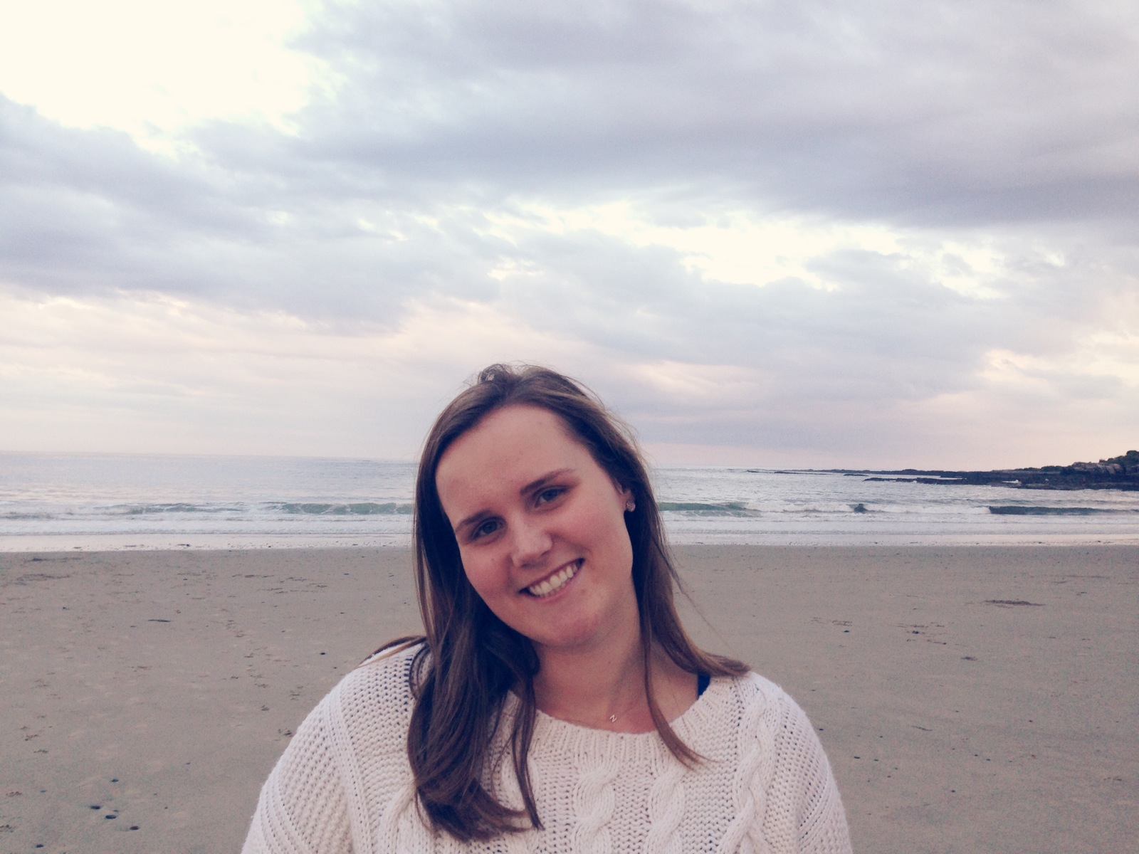 Sunset at the Beach, Blogger in Maine, Fishermans Sweater, Cableknit sweater