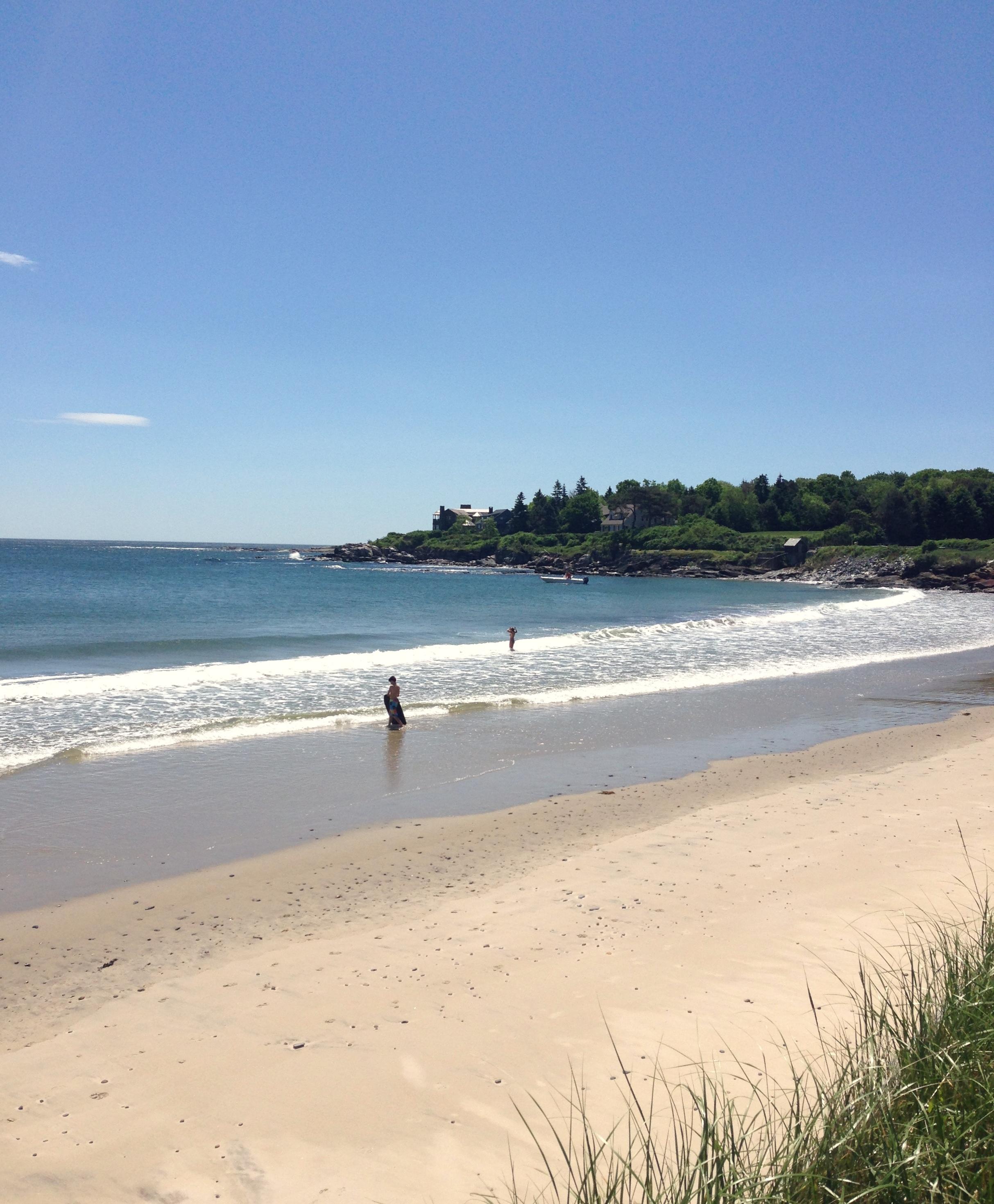 Maine Beach, Coast of Maine Ocean, Simply Elegant in Maine, Swimming in Maine