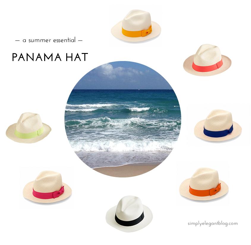 Panama Hat Summer Essential,  Panama Hat, Blogger Panama Hat, Summer Beach Style, Fashion Blogger Beach Style