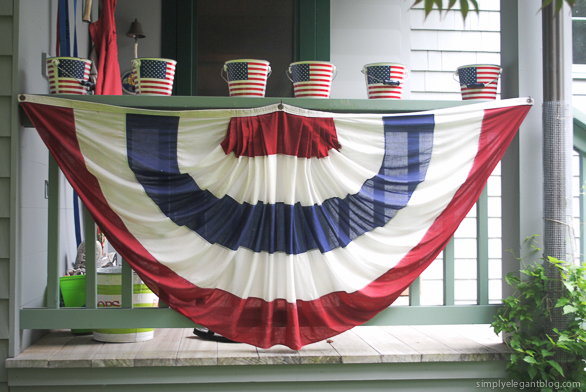 4th of july decorations, red white and blue, simply elegant blog