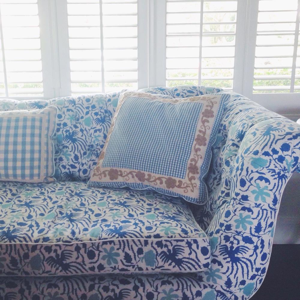 Quadrille - China Seas   'Seya'  fabric   in  blue