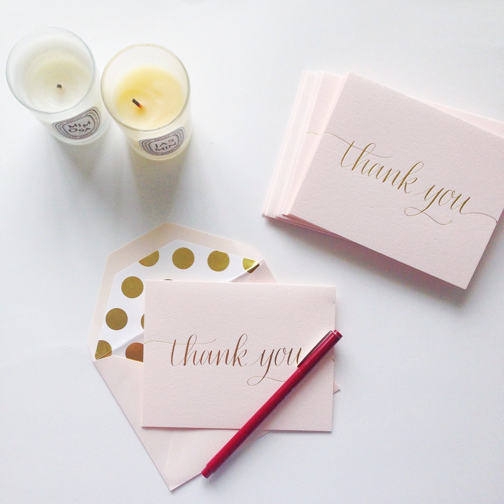 Sending  thank  you  notes  after  christmas  (from sugar paper)