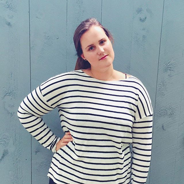 Wearing my new J.Crew Deck Striped T-shirt, via instagram @simplyelegantblog