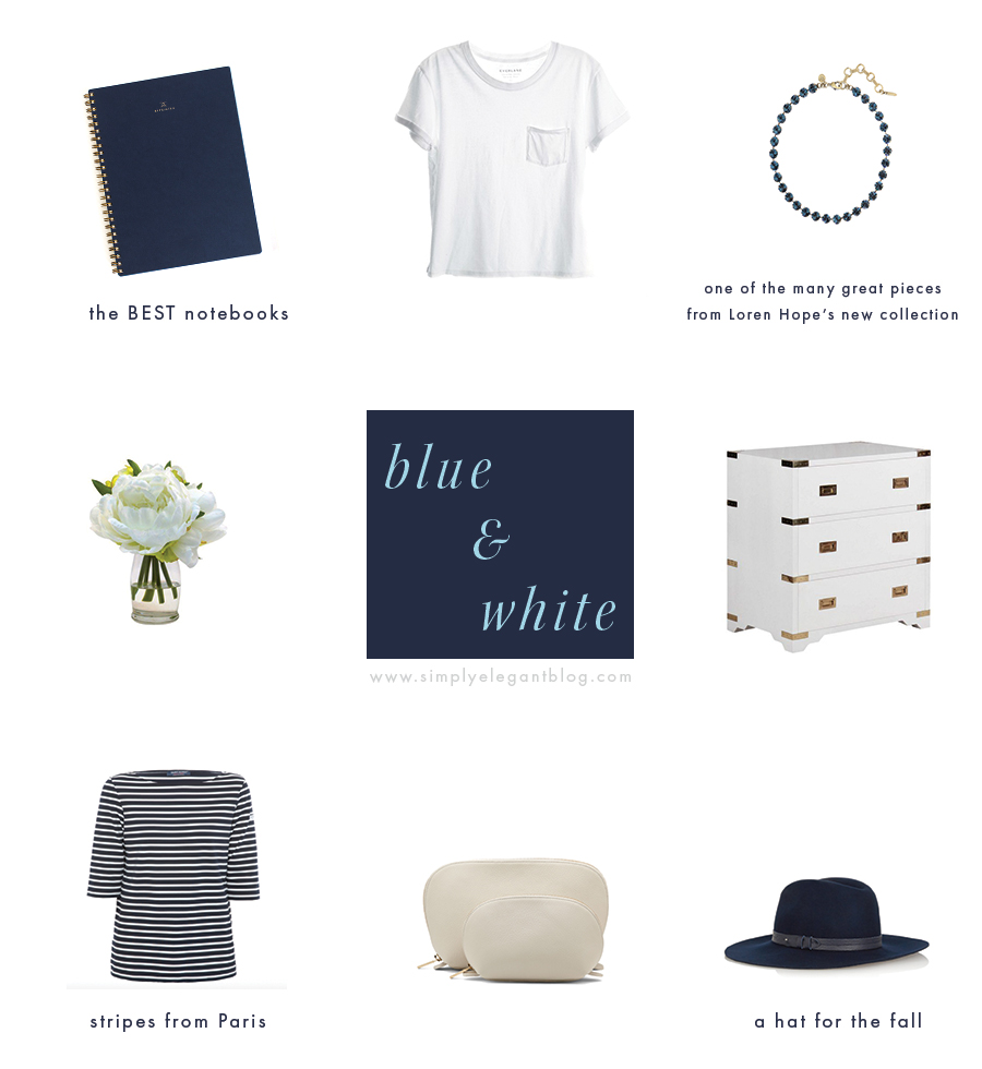 Blue & White Favorites / Appointed, Everyone, St. James, Cuyana