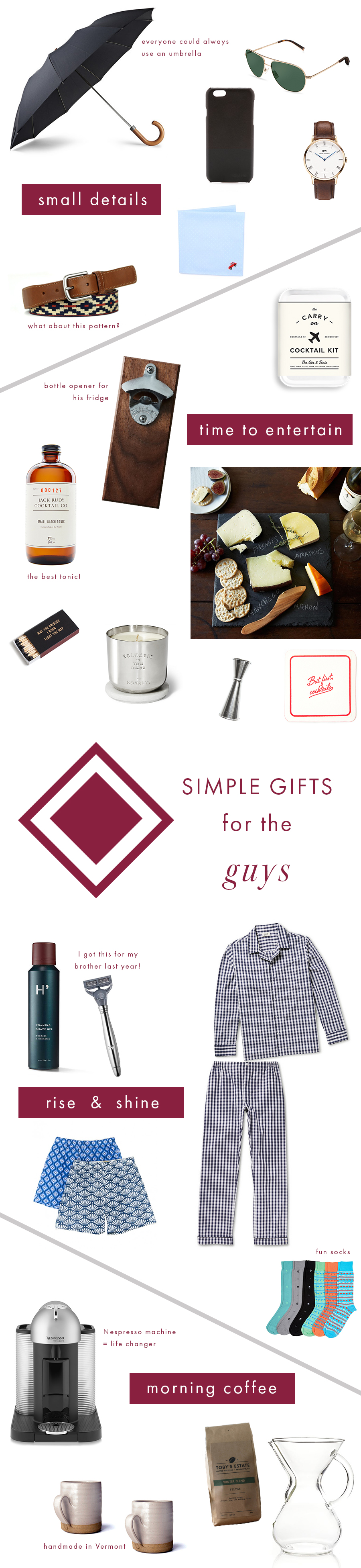 Gift Guide for The Guys - Simply Elegant Blog