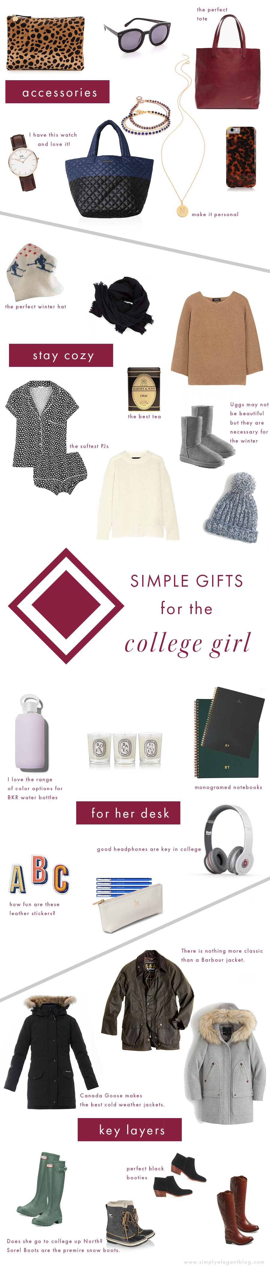 Holiday Gift for College Girl Simply Elegant