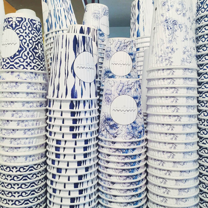 blue and white at Maman, NYC.