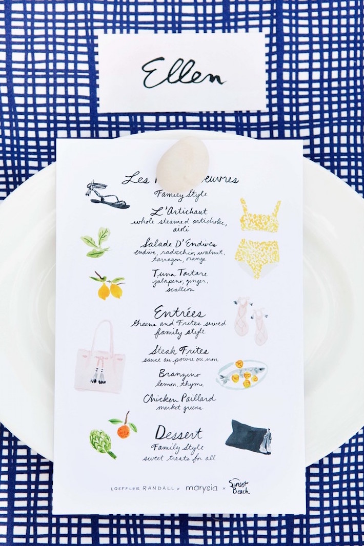 Watercolor Handpainted Menu by Caitlin McGauley