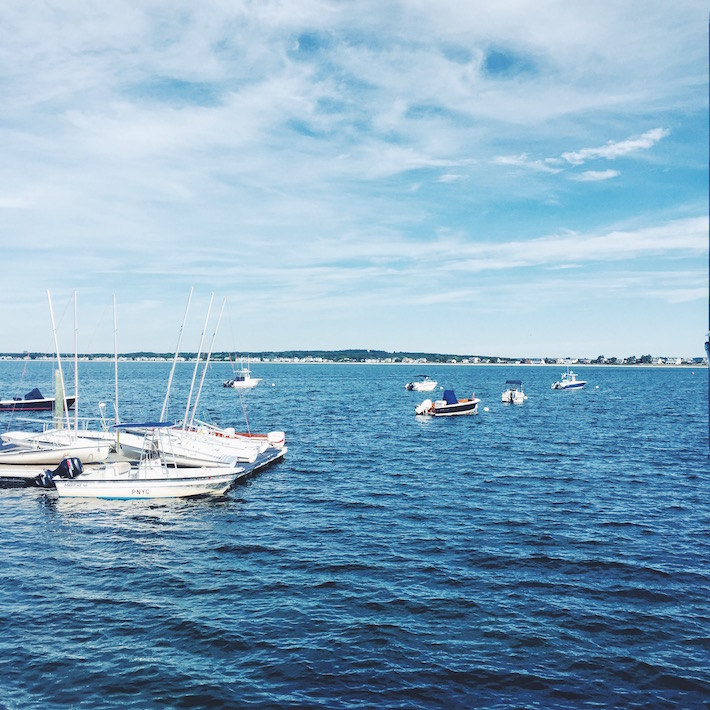 boats in the harbor - Maine