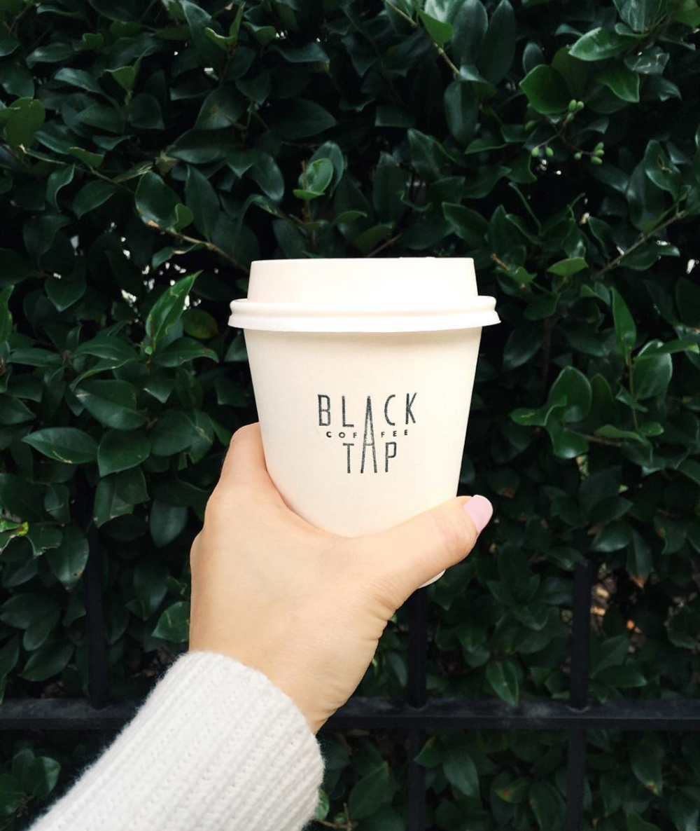 Black Tap Coffee in Charleston.  Morning Routine Interview with Brooke Kiernan McCallion on Simply Elegant Blog.