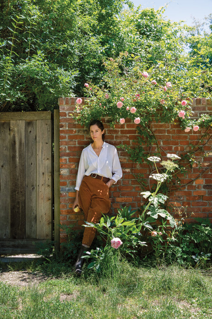 Miranda Brooks in the Garden She Designed for Anna Wintour
