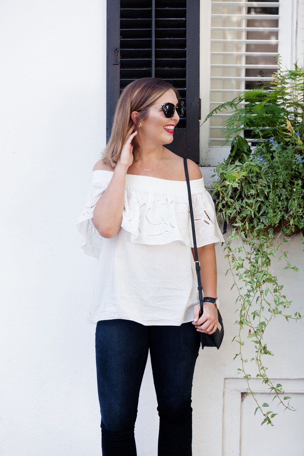 Off the Shoulder Tibi Top - Annie Reeves.
