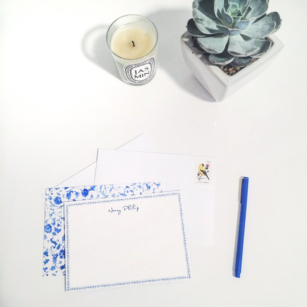 Paperless Post Monogramed Stationery