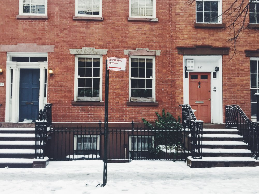 Snow in New York City, West Village. Via Simply Elegant Blog.