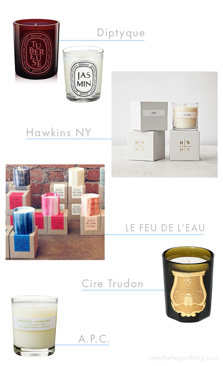 Where to Buy Candles - Diptyque, Cire Trudon, APC and Le Feu De Lead