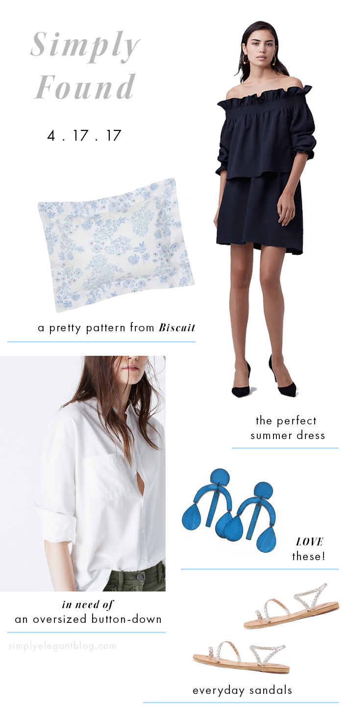 Simply Elegant Blog - DVF dress, biscuit home bedding, Marlyn earrings