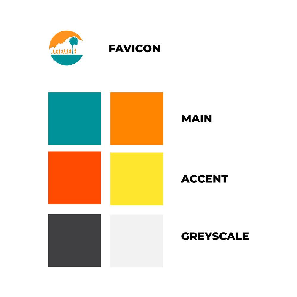 New colour palette and favicon sample