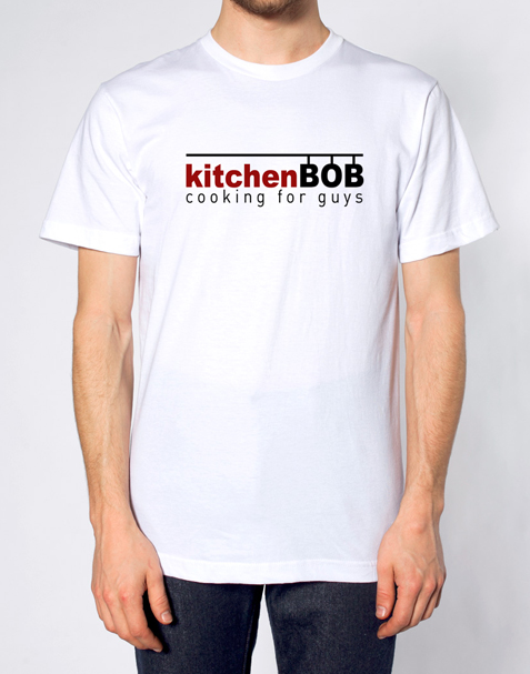 White kitchenBOB cooking t-shirt - ONLY $29.99 (shipping/taxes included in the US)