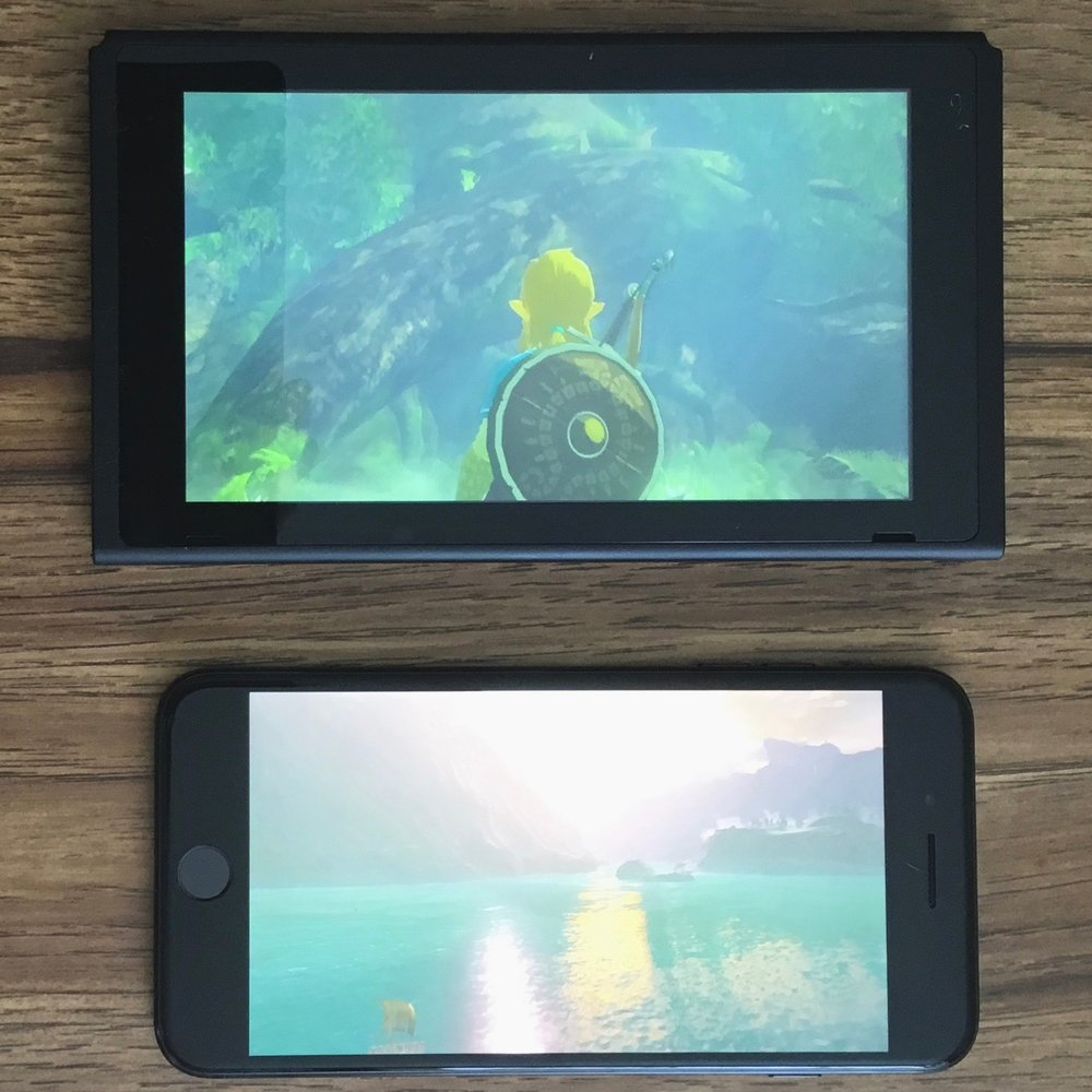 Switch Screen compared to an iPhone 7 Plus