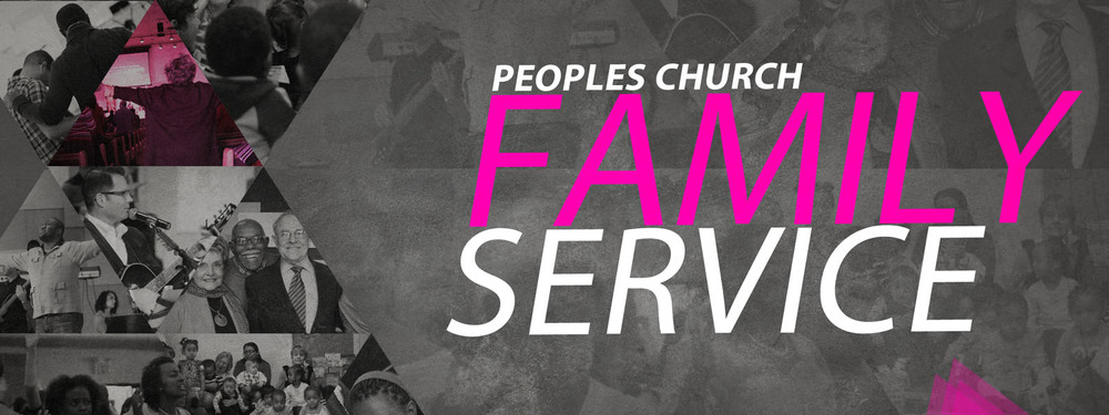 Peoples Church takes pride in all of it's generations. The Family Service is a time where all ages celebrate God together.