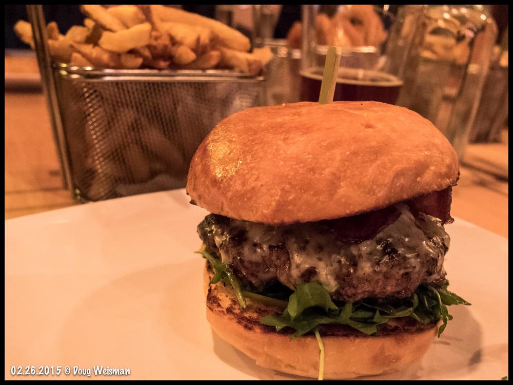 The famous 8 oz. burger