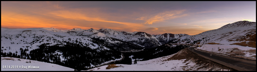 Sunrise at 11,990 ft.