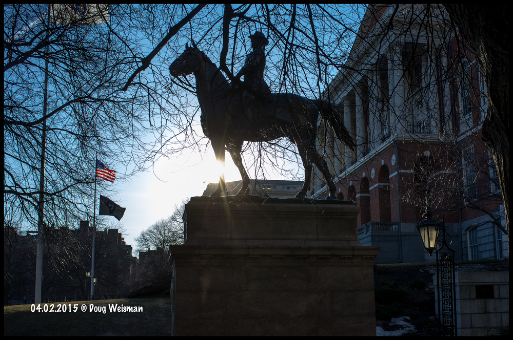 Sunset at the MA State House