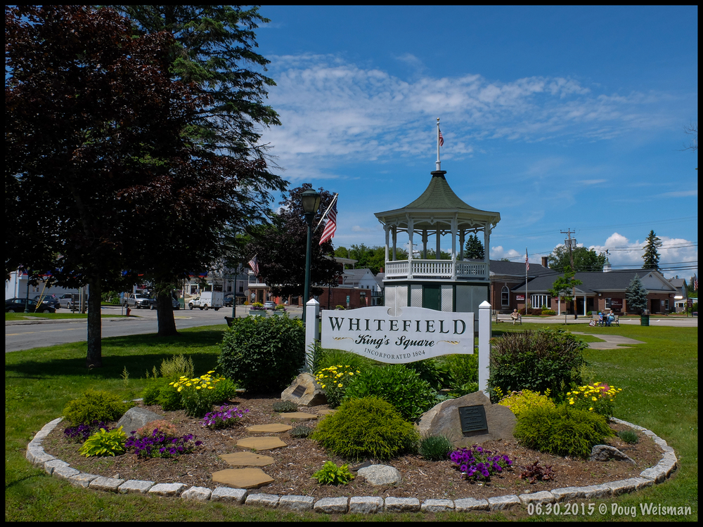 Whitefield, NH town center.