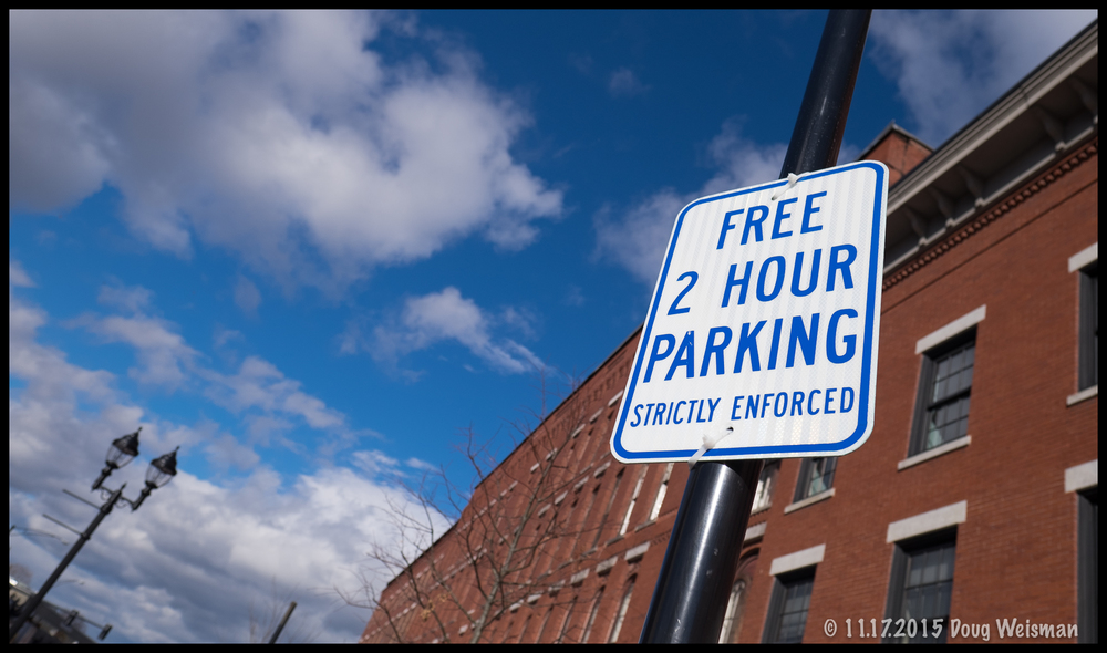 If you insist, I'll park for free!