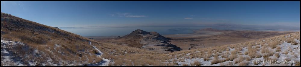 Antelope Island from Frary Peak.