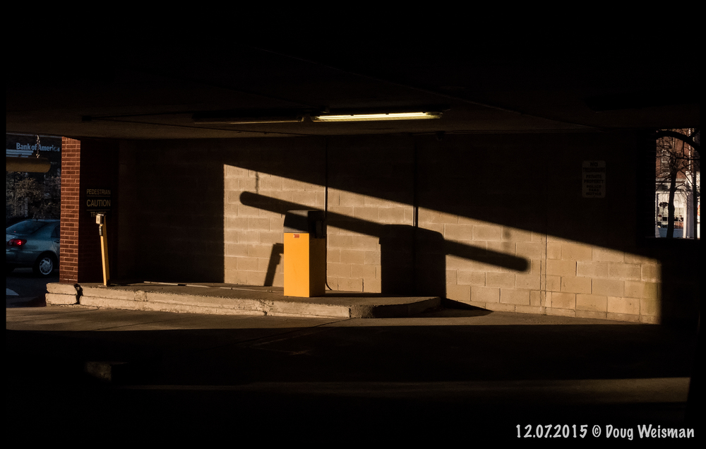 Abstract by shadow with yellow.