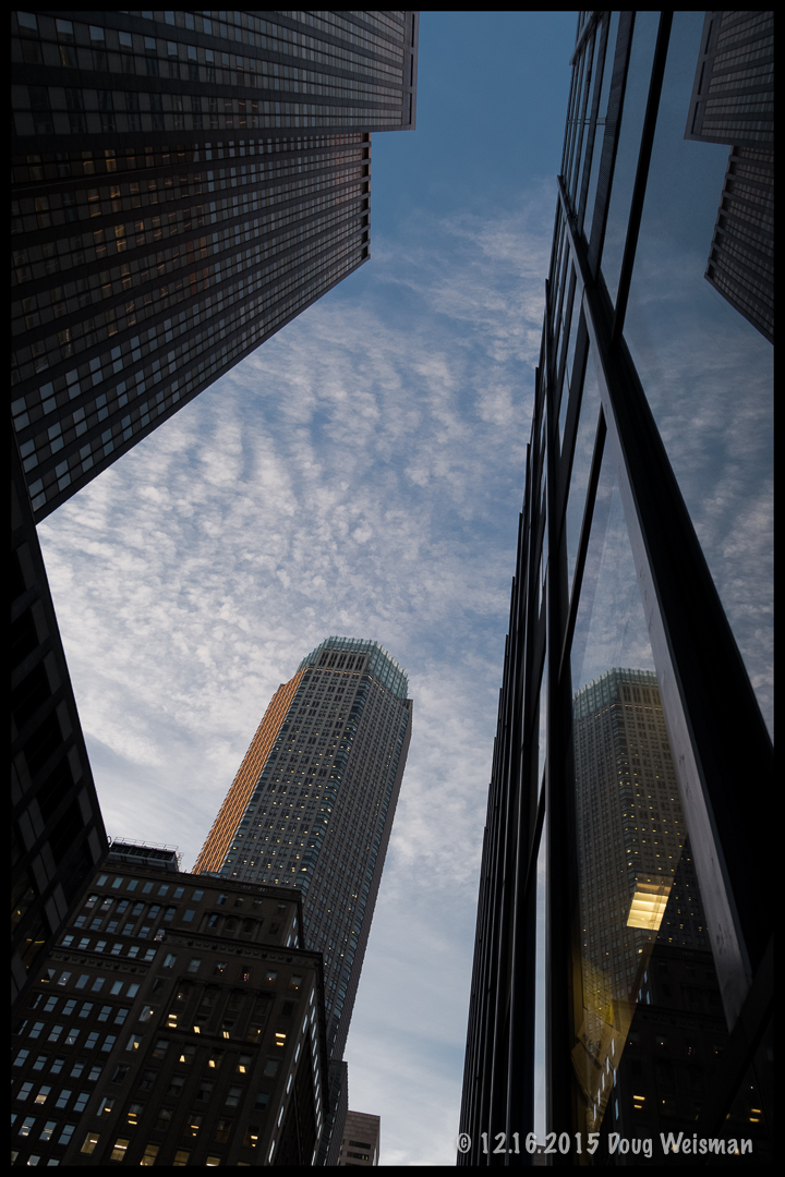 NYC towers into the sky.