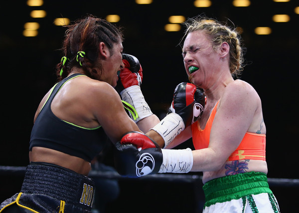 Noemi Bosques and Heather Hardy battle it out.