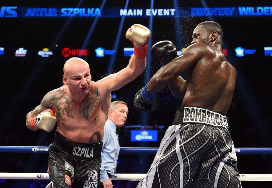 Szpilka controlled many of the early rounds with movement and distance.  Credit: Getty Images/ DON EMMERT STF