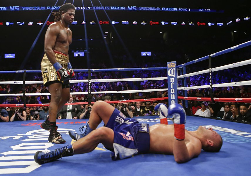 Charles Martin wins IBF World Heavyweight championship in a strange ending to the fight. Photo credit: AP Photo/Frank Franklin II