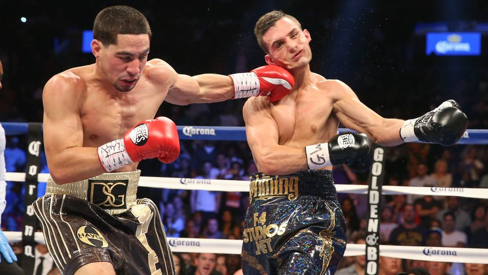 In a mis-match of epic proportion Danny Garcia took on Rod Salka.  Photo credit: Ed Mulholland