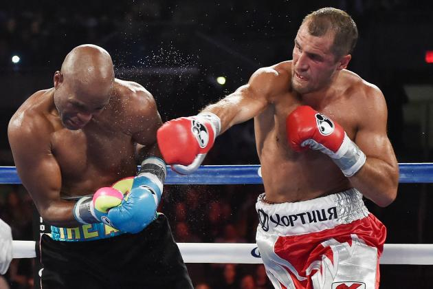 Sergey Kovalev had his way with the legendary Bernard Hopkins when the two met. Photo Credit :  Al Bello/Getty Images