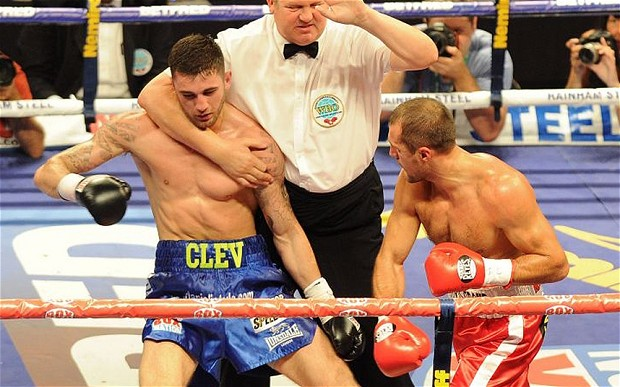 Kovalev dstroys previously unbeaten Nathan Cleverly. Photo credit:  Getty Images